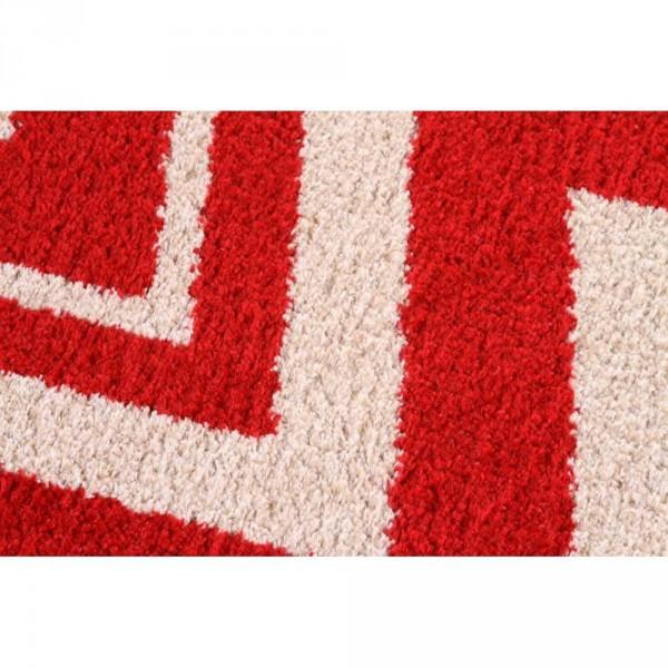 Tapete J Serrano Classic Chevron 067 2,00 x 2,50 - Bege/Vermelho