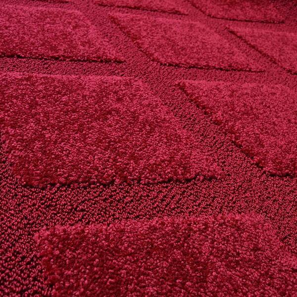 Tapete J Serrano Realce Trilho 010 2,00 x 2,50 - Vermelho