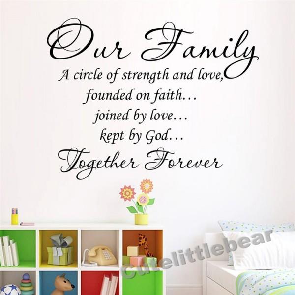 Adesivo de Parede Adesivo Our Family